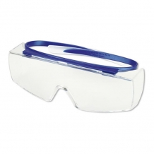 Uvex Super OTG (navy blue) over the glasses