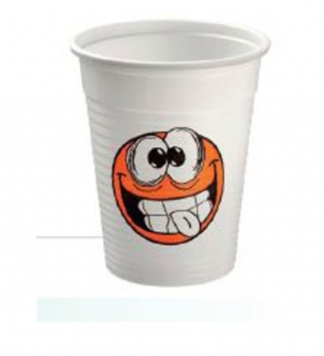 Cups Smile 100% recyclable. 1000 pcs